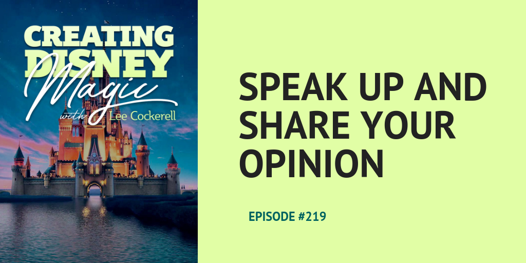 speak up and share your opinion