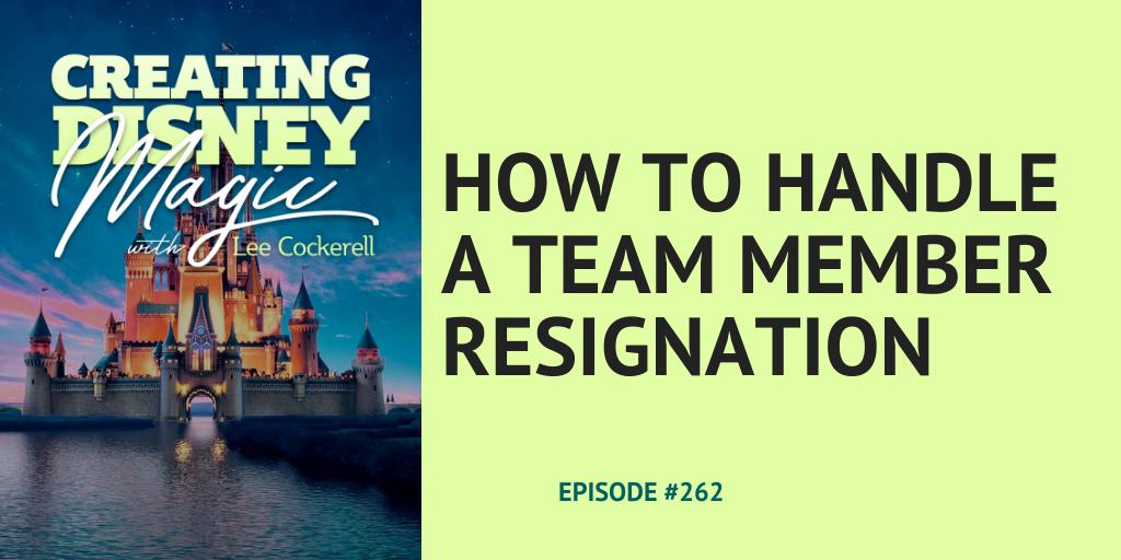 team member resigns
