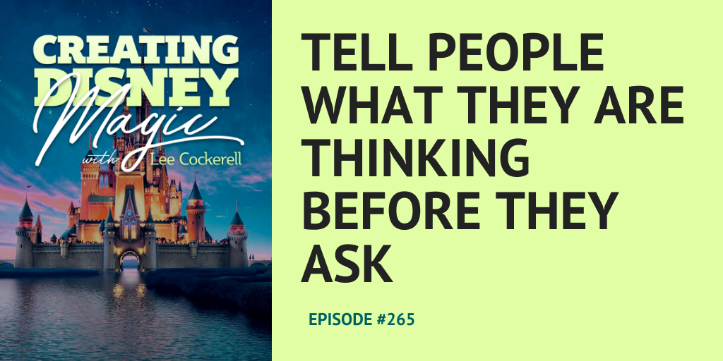 tell people what they are thinking before they ask