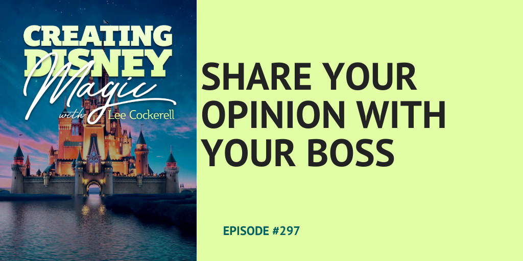 share your opinion with your boss